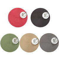 FJ- ROUND WOVEN PLACEMAT DINING TABLE MAT DISC BOWL PAD COASTER WATERPROOF DECOR