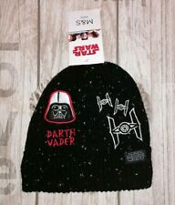 *REDUCED* M&S Age 3-6 years Star Wars Black Fleece Lined Darth Vader Winter Hat