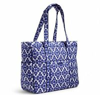 NWT Vera Bradley *GET CARRIED AWAY* large Travel TOTE BAG in Cobalt Tile
