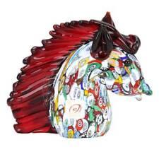 GlassOfVenice Murano Glass Millefiori Horse Head