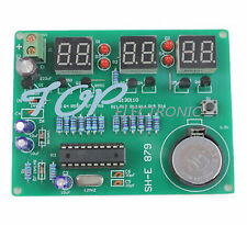 5PCS 9V-12V AT89C2051 6 Digital LED Electronic Clock Parts Components DIY Kit