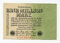 Old Germany 1 Million Mark Reichsbank Note Berlin 1923 German Inflation Money