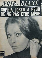 SOPHIA LOREN en COUVERTURE de NOIR et BLANC de 1967 LUIS MARIANO AZNAVOUR