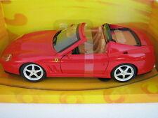 ferrari superamerica modellino 1:18 die cast model auto mattel hotwheels J2858