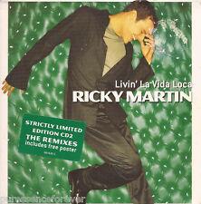 RICKY MARTIN - Livin' La Vida Loca (UK Ltd Ed 3 Tk CD Single Pt 2/Poster)
