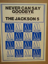 song sheet NEVER CAN SAY GOODBYE The Jackson 5