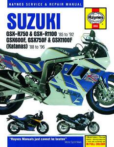 HAYNES REPAIR MANUAL SUZUKI KATANA GSX-R750 GSX-R1100 GSX 600 GSX 750 GSX 1100