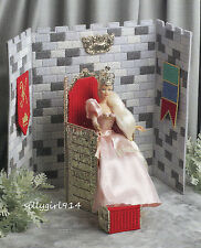 """""""THRONE ROOM""""~Plastic Canvas PATTERN ONLY for BARBIE FASHION DOLL~RARE~OOP"""