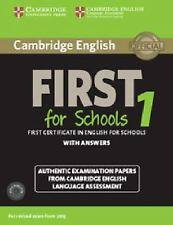 FCE Practice Tests: CAMBRIDGE ENGLISH FIRST 1 FOR SCHOOLS FOR REVISED EXAM...
