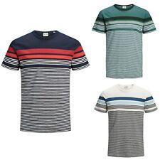 JACK&JONES Hombre Camiseta Top Polo TS rayas slim fit 23061