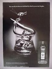 "Old Bushmills Irish Whiskey PRINT AD - 1977 ~Henry Halem created ""Skier"" glass"