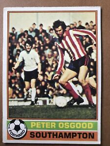 TOPPS 1977/78 RED BACK FOOTBALL CARD Number 13 Peter Osgood