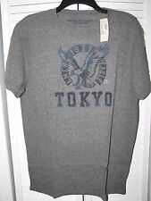 American Eagle Tokyo City Series Graphic T-Shirt Grey Men's Size Large NWT!