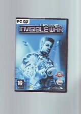 DEUS EX INVISIBLE WAR - PC GAME - FAST POST- ORIGINAL & COMPLETE WITH MANUAL VGC