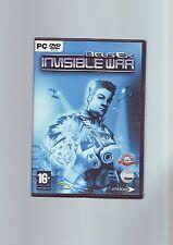 Deus EX INVISIBLE WAR-JUEGO DE PC-rápido post-Original y completo con manual en muy buena condición