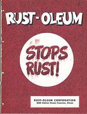 MRO Brochure - Rust-Oleum - Primer Short Oil et al Coating - c1952 (MR196)