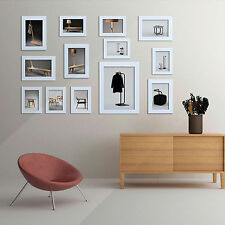 Family 13Pcs Photo Frame Picture Collage Wall Hanging White Set Art Home Decor