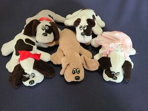 Lot of 5 - Vintage 1985 Tonka POUND PUPPIES Mini Plush Dogs Stuffed Animals Toys