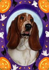Basset Hound Black Saddle Tri Halloween Howls Flag