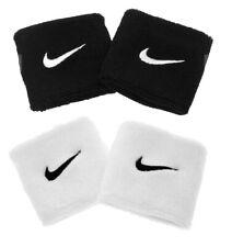 2 Nike Swoosh Schweißband Schwarz Weiß Handtuch Aerobic Fitness Joggen Tennis