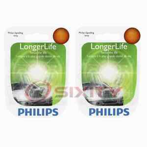2 pc Philips Front Side Marker Light Bulbs for Nissan 350Z Altima Cube jk