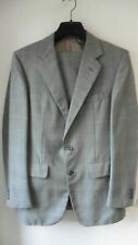BURBERRYS GREY CHECK SINGLE BREASTED WOOL 2 PIECE SUIT 40 R IMMACULATE