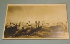 WWI Era US Soldiers With Cannon Behind Fortified Wall RPPC Real Photo Postcard