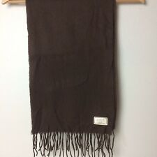 "Coach Brown Cashmere Wool Blend Scarf 71"" W x 10"" L"