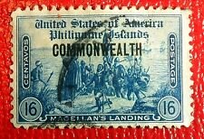 Very Nice 1936 United States Philippines Commonwealth Stamp Cat# 417 J190
