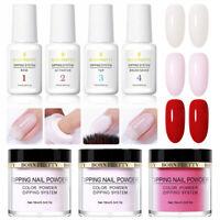 7Pcs/Set BORN PRETTY Dipping Powder Nail Dip Liquid Glitter Nail Art Starter Kit