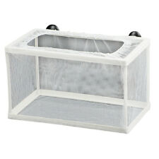 Fish Tank Plastic Frame White Net Fry Hatchery Breeder w Suction Cups N6 ED