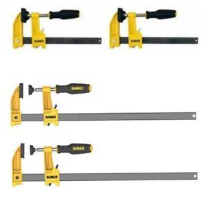 6 12 Inch Bar Clamp Vise Set Clutch Lock Ergonomic Handle 2.5 Throat Depth Work