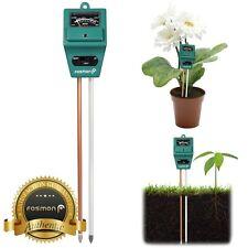 Fosmon 3in1 Home Garden Lawn Pot PH Soil Meter Moisture Sensor Light Tester