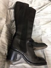 Free Lance Black Leather Boots EU 35.5 Uk 2 1/2 -3