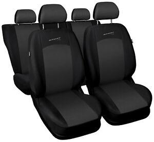 Car seat covers fit Hyundai Tucson - full set grey / black sport style