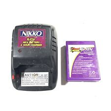 Used Nikko 6.0v, 4-Hour NiCd Battery Charger 1764b With 650mAh Battery Pack