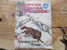 1929 Hunter Trader Trapper Magazine Remington Harley Davidson Rifle Fur Trap Ads