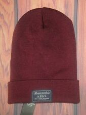 MENS ABERCROMBIE & FITCH MAROON BURGUNDY BEANIE HAT ONE SIZE