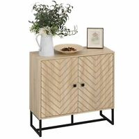 Modern Sideboard Cabinet Wooden Cupboard Buffet Table Elevated Storage Shelves