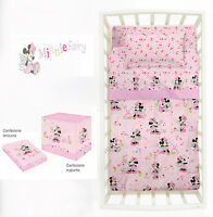 Set Lenzuola Minnie Fairy Topolina per Lettino Neonato Baby Rosa Disney Caleffi
