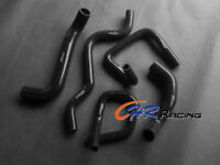 For Ford Falcon BA BF XR6 Turbo Silicone Radiator heater hose kit Black