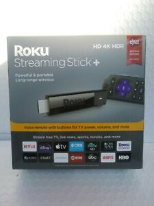 Roku 4K HDR Media Streaming Stick+ with Voice Remote - 3810R BRAND NEW Sealed!!