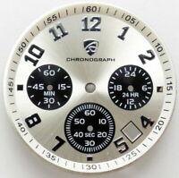 VD53 Chronograph Zifferblatt in Silber VD53B  Ø 32,5mm Shiojiri - WATCH DIAL