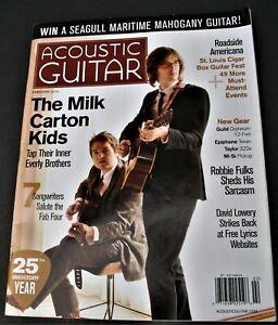ACOUSTIC GUITAR MAGAZINE FEBRUARY 2014 MILK CARTON KIDS ROBBIE FULKS CIGAR BOX