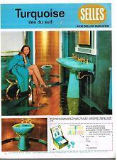 Publicité Advertising 1974 Sanitaire Salle de Bain Selles
