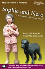 Escala 1/35 Chica Con Su Perro Sophie y Nero-Resin Model Kit