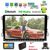 "9"" Autoradio Android GPS NAVI Für VW Golf EOS PASSAT TIGUAN TOURAN Sharan POLO"