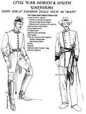Trent / Matt / Fm size Dolls Civil War Uniforms Pattern N&S Gone With The Wind