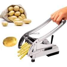New Stainless Steel French Fry Potato Cutter Maker 2 Blades Slicer Chopper Dicer