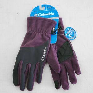 Columbia Mountainside Women's Black & Purple Touchscreen Gloves X-Large 1742561
